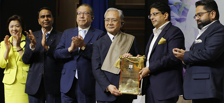 Manav rachna university confers honoris Causa on SGI President Daisaku Ikeda